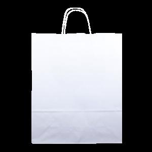 Sacos de papel de cor branca