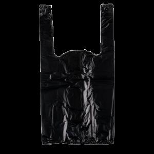Saco de plástico preto com asa alça