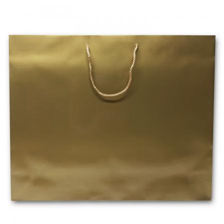 Saco de papel kraft dourado brilhante